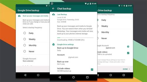 آموزش گرفتن نسخه پشتیبان از پیامهای واتس اپ