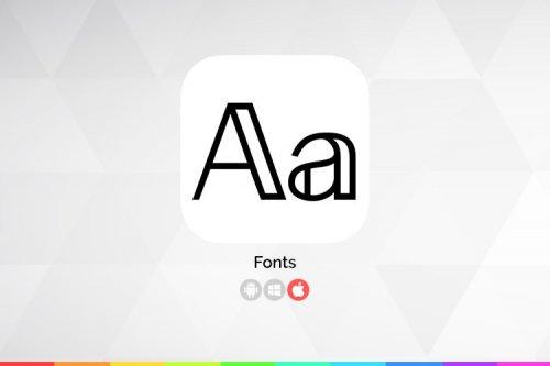 زوماپ: Fonts؛ صفحهکلیدی با فونتهای مختلف برای iOS