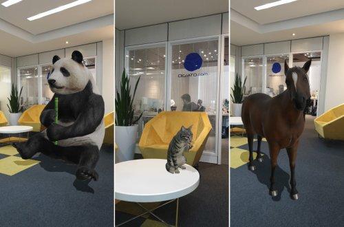 گوگل نسخه واقعیت افزوده حیوانات را در برنامه جستجویش قرار داد